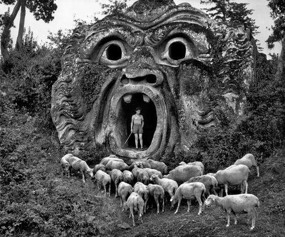 ITALY. Bomarzo. Park of the Palazzo Orsini. 1952. A-IT-BOM-001