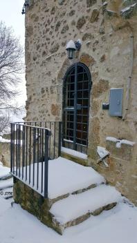 Particolare del borgo di Calascio Vecchia. Gennaio 2016
