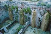 Un particolare della antiche sorgenti termali di Bagno Vignoni. Giugno 2016