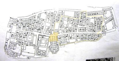 La pianta architettonica del centro storico di Pienza. fonte: web
